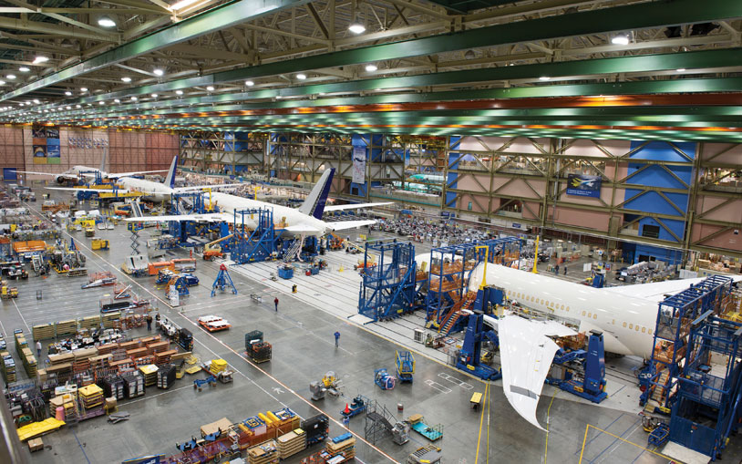 787 production line