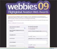 Webbies 09 entry form